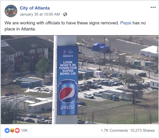City of Atlanta Spoof Account defends its turf as home of Coca-Cola