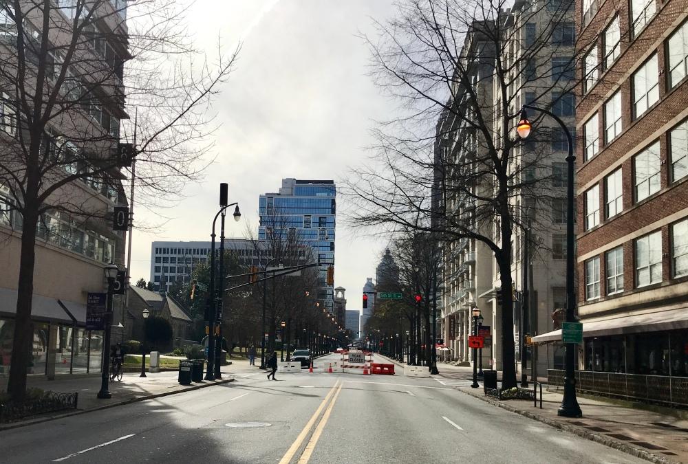 Peachtree Street, Atlanta on Friday, February 1, 2019