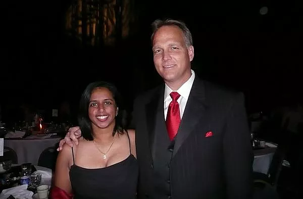 Sravanthi & Coach Richt at UGA Football Gala, December 2007