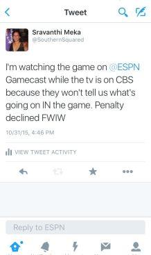UGA vs UF Tweet