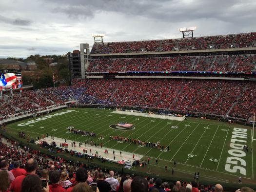 Veterans honored at halftime of Georgia-Kentucky game, November 7, 2015