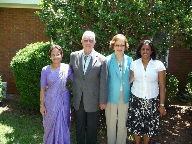 Mom, Sravanthi, Jimmy & Rosalynn Carter, 5-31-2009