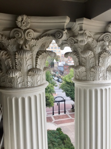 UGA Arch from Hunter-Holmes Building, February 24, 2018