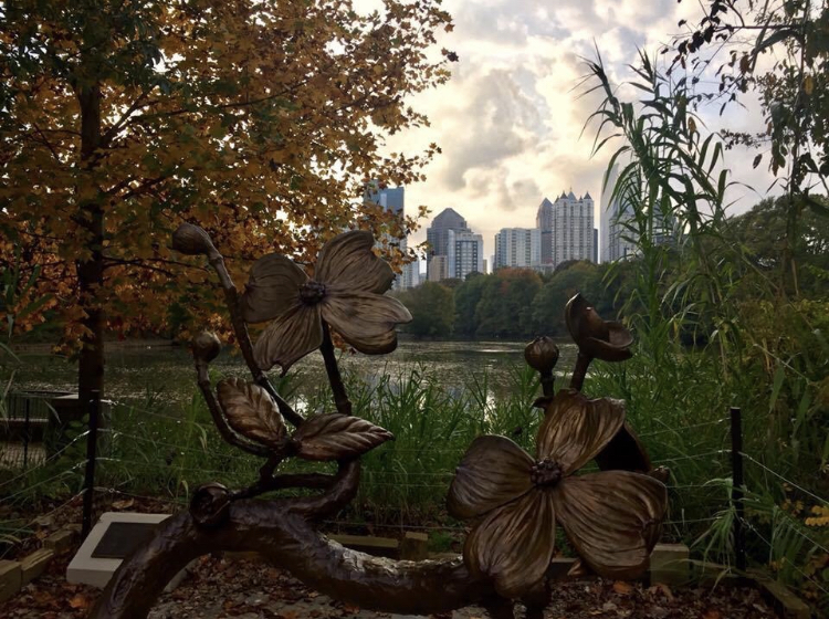 Piedmont Park with the Atlanta's Midtown skyline