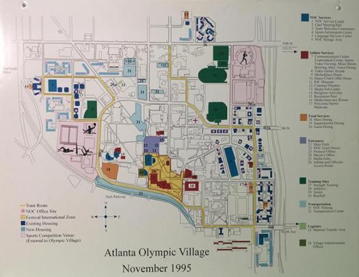 Georgia Tech campus during 1996 Olympics
