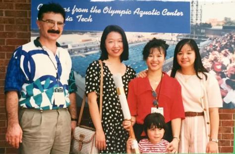 Maz Kosma with family during 1996 Olympics